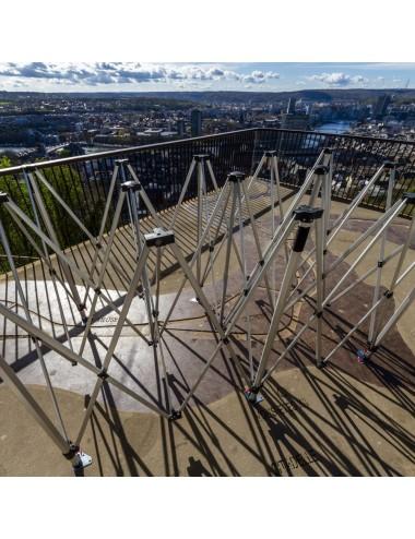 Structure tonnelle/tente pliante en Acier/Aluminium