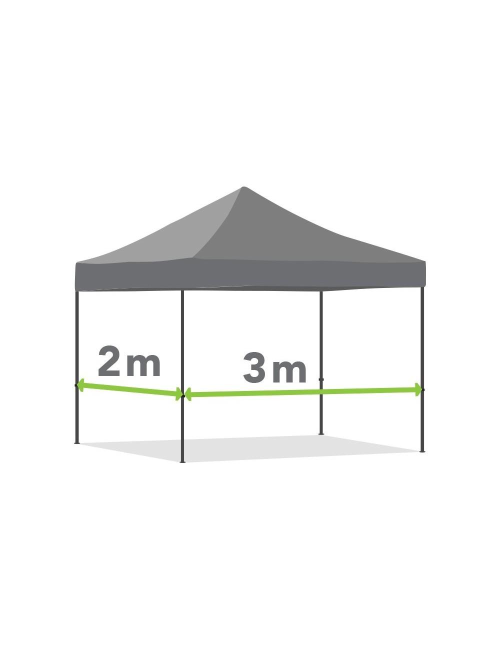 Tonnelle pliante de 2m x 3m