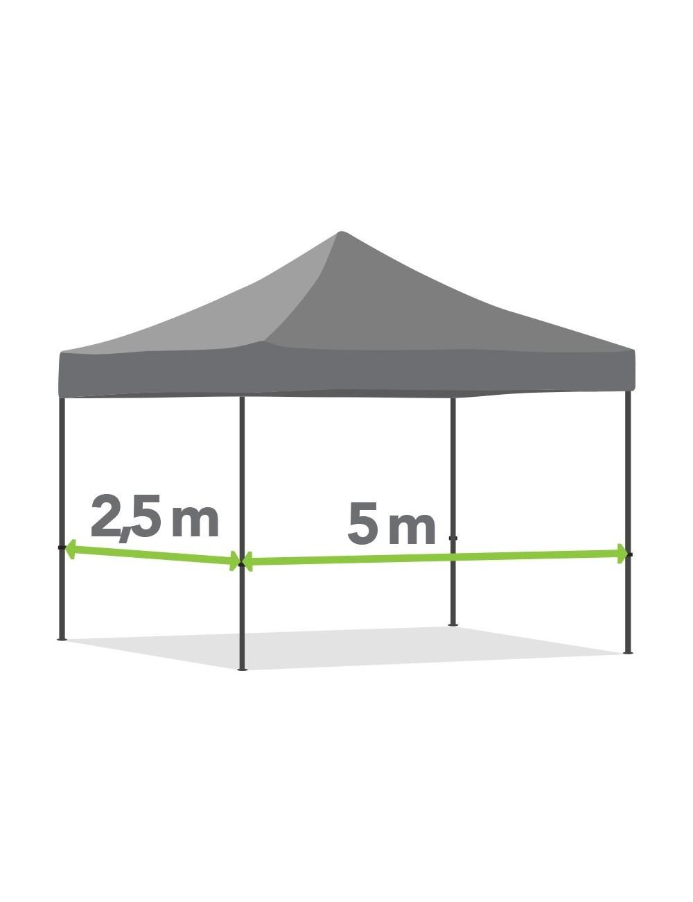 Tonnelle pliante de 2,5m x 5m