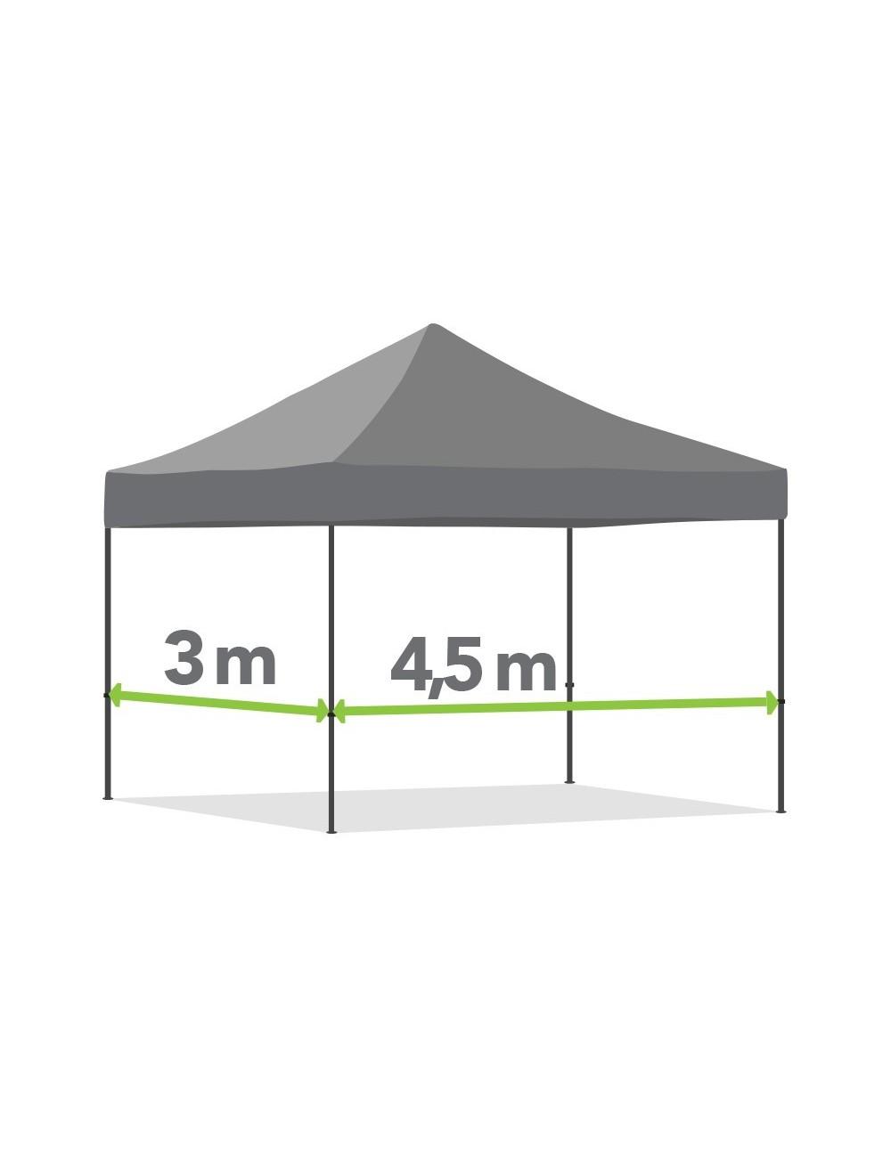 Tonnelle pliante de 3m x 4,5m